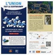 Flyer Exposition Schtroumpfs - Abbaye De Caunes-Minervois - Programmes