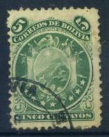 Bolivie 1868 Mi. 8 Oblitéré 40% Blason De 9 étoiles - Bolivie