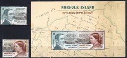 NORFOLK ISLAND , 2019, MNH , PITCAIRN SETTLEMENT, QUEEN VICTORIA,  2v+SHEETLET - History