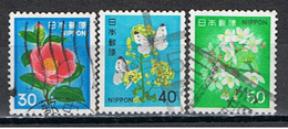 (J 272) JAPON //  YVERT 1343, 1344, 1345 // 1980 - 1926-89 Emperor Hirohito (Showa Era)
