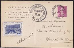 France, Haut Rhin - Exposition Philatélique Mulhouse - Paques 1934 - Marcophilie (Lettres)