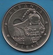 ALBANIA 5 LEKE 1988 1st Albanian Railroad  KM# 61 TRAIN - Albania