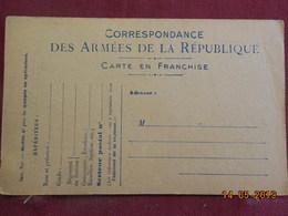 Carte De Correspondance Militaire - Marcophilie (Lettres)