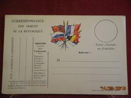 Carte De Correspondance Militaire - Cartes De Franchise Militaire