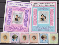 Barbuda Diana Set + Sheet MNH - Donne Celebri