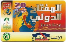 Saudi Arabia - S.T.C - Interkey - Globe - 20SR, Prepaid Hard Plastic Card, Used - Saudi Arabia