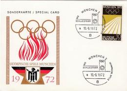 1972 MÜNCHEN - BRD  MiNr: 587 Sonderkarte - Sommer 1972: München