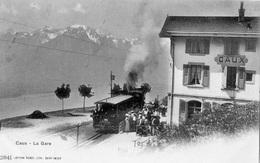 CAUX LA GARE (TRAIN EN GARE) CARTE PRECURSEUR - VD Vaud
