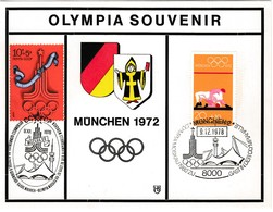 1972 MÜNCHEN - BRD  MiNr: 719 + UdSSR 4564 Souvenirkarte - Zomer 1972: München