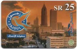 Saudi Arabia - Zajoul - City View - 25SR, Prepaid Hard Plastic Card, Used - Saudi Arabia