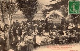 ENVIRONS DE SAINT-NAZAIRE-DE-VALENTANE BELLE-CASSAGNE PELERINAGE DE 1910 VUE PRISE PENDANT LE SERMON - France