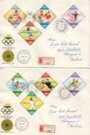 1972 MÜNCHEN - Ungarn  MiNr: 2773-2780 Auf 2 ET Rekobelegen - Sommer 1972: München