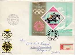 1972 MÜNCHEN - Ungarn  MiNr: 2781 Block 91A  ET Rekobelege - Sommer 1972: München
