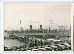 Y12245/ Hamburg Hafen Dampfer Italia Foto AK 1952 - Paquebots