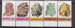 Zambia 1982 Minerali / Minerals Set MNH - Zambia (1965-...)