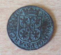 Joli Liard Des Ardennes - Charles I De Gonzague 1608 Au Buste Large - Poids : 3,76 Gr - Diamètre : 24 Mm - Cuivre - 476-1789 Monnaies Seigneuriales