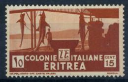 L'Érythrée 1933 Sass. 206 Neuf ** 100% 15 C, Sujets Africains - Erythrée