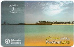 Bahrain - Batelco - Beach Landscape, 3BD Prepaid Card, Used - Bahrein