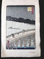 HIROSHIGE 歌川広重  ANCIENNE CARTE VOEUX SURIMONO ESTAMPE JAPONAISE GRAVURE ANTIQUE PRINT JAPAN Ukiyo-e JAPON ASIE - Announcements