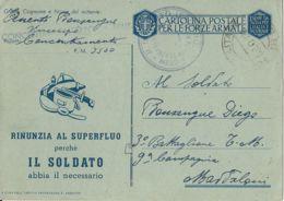 FRANCHIGIA POSTA MILITARE 3500 1943 CONC MESSINA X MADDALONI - Military Mail (PM)