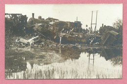 68 - HERRLISHEIM Près COLMAR - Carte Photo - Accident De Chemin De Fer 13 Mai 1909 - Locomotive - Wagons - Francia