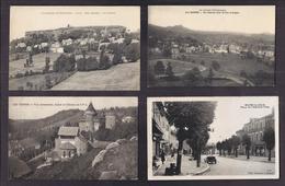 LOT 20 CPA 15 CANTAL - Majorité VILLAGES Dont Vues Générale , Centre , Intérieur , Châteaux , Ski , Type , Paysans - Frankrijk