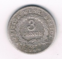 3 PENCE 1944 BRITISH WEST AFRICA /4026/ - Monnaies