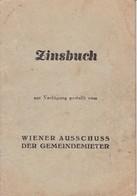 Zinsbuch Ab 1949 - 1952  Wien - Gesetze & Erlasse