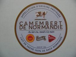 Etiquette Camembert - 100% Race Normande - Fromagerie Gillot A.O.P St-Hilaire De Briouze 61 Normandie - Orne  A Voir ! - Fromage