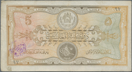 """Afghanistan: Pair Of 5 And 50 Afghanis SH1307 (1928) Both With """"Baccha I Saqao"""" Revolution Stamps, P - Afghanistan"""