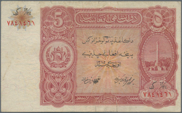 Afghanistan: 5 Afghanis ND(1936), P.16, Small Tear At Center, Some Folds, Condition: F/F+ - Afghanistan