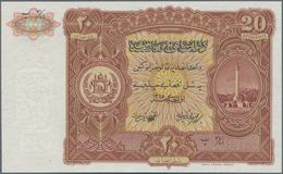 Afghanistan: 20 Afghanis SH1315 (1936) Remainder W/o Serial Number With Text On Back In Farsi, P.18 - Afghanistan