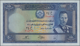 Afghanistan: 50 Afghanis ND(1939), P.25a, Almost Perfect, Tiny Dint At Lower Right, Condition: AUNC/ - Afghanistan