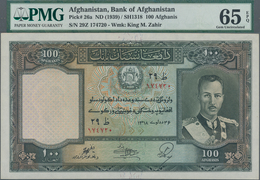 Afghanistan: 100 Afghanis SH1318 (1939), P.26a, Highly Rare In This Exceptional Condition, PMG Grade - Afghanistan