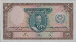 Afghanistan: 1000 Afghanis SH1318 ND(1939), P.27A, Perfect Condition With A Few Tiny Creases At Left - Afghanistan