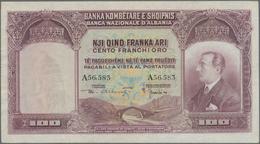 Albania / Albanien: 100 Franka Ari ND(1926), P.4, Great Original Shape With A Few Minor Creases At R - Albania
