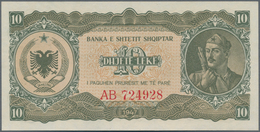 """Albania / Albanien: 1947 """"Soldier"""" Lek Issue With 10, 50, 100, 500 And 1000 Lek, P.19-23 In UNC Cond - Albania"""