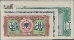 Albania / Albanien: Set With 10 Banknotes 1949 And 1957 Issue With 5, 50, 100, 500 And 1000 Leke, P. - Albania