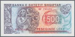 Albania / Albanien: Lot With 6 Banknotes Comprising 100, 500 Leke 1991, 500 Leke 1996 And 1, 10 And - Albania