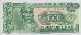 Albania / Albanien: 200, 500 And 1000 Leke 1992, P.52-54, Tiny Spot On The 500, Otherwise All In UNC - Albania