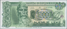 Albania / Albanien: 1993-1996 Issue With 2x 100, 200, 500 And 1000 Leke, P.55b,c, 56, 57, 58, All In - Albania
