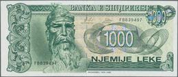 Albania / Albanien: 200, 500 And 1000 Leke 1996 And 1000 Leke 1995, P.59, 60, 61a,c In UNC (except P - Albania