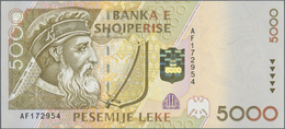 Albania / Albanien: Set With 5 Banknotes 1996 Issue With 100, 200, 500, 1000 And 5000 Leke, P.62-66, - Albania
