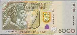 Albania / Albanien: Set With 5 Banknotes Of The 2007 Issue With 200, 500, 1000, 2000 And 5000 Leke, - Albania