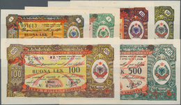Albania / Albanien: Set With 6 Banknotes 1953 Issue Of The Foreign Exchange Certificates With 1, 5, - Albania