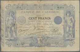 Algeria / Algerien: Banque De L'Algérie 100 Francs 1911, P.74, , Highly Are And Very Early Type Of T - Algeria