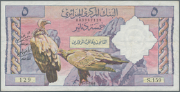 Algeria / Algerien: 5 Dinars 1964, P.122, Tiny Pinholes And Several Folds, Condition: F+/VF - Algeria