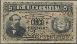 Argentina / Argentinien: Pair Of 5 Centavos Republica Argentina L.1883 (1884), Printer ABNC With Sig - Argentina