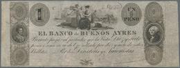 Argentina / Argentinien: El Banco De Buenos Ayres 1 Peso ND(1827-29), P.S328, Very Nice And Highly R - Argentina
