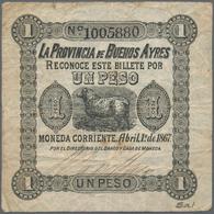 Argentina / Argentinien: Nice Set With 3 Banknotes Containing 2 X 1 Peso La Provincia De Buenos Ayre - Argentina